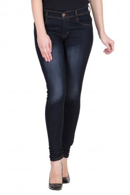 Buy Jollify Women's Karban Black Cotton Lycra Slim Fit Jeans-(jw644) online