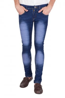 Buy Jollify Mens Cotton Blend Stretchablel Light Blue Jeans online