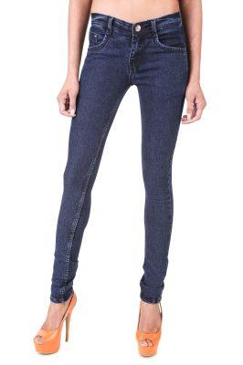 Buy Jollify Uk Blue Women's Blue Denim Lycra Slim Fit Jeans-(jwukw001blue) online