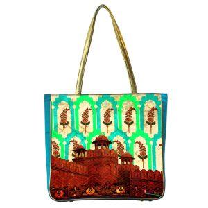 Buy Classic Silk Red Fort Handbag online