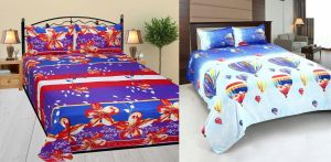 Buy Milap Set Of 2 3d Design Double Bedsheet With 4 Pillow Covers online