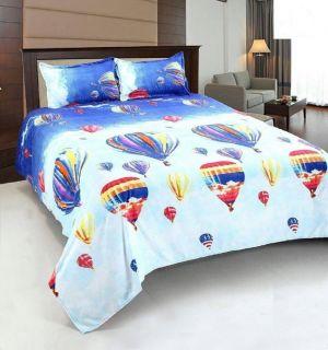 Buy Milap Multocolor Polycotton Double Bedsheet online