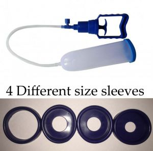 Buy Blue 4 Different Size Sleeves Penis Enlargement Pump online