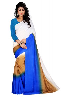 Buy Aar Vee Multi  Colour  Satin Silk Saree With Unstitched Blouse online