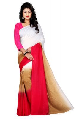 Buy Aar Vee Multi Colour Satin Silk Saree With Unstitched Blouse Rv113 online
