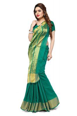 Buy Aar Vee Green Art Silk Weaving Designer Saree With Unstitched Blouse Srn1111e online