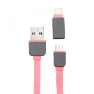 Buy Spider Designs 2 In 1 Pink Cable For I Phone/androids online
