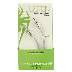 Buy Spider Designs Aux Cable Gray online