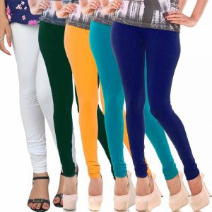 Buy Vivan Creation Women Stylish Colorful Comfortable 5 PC Cotton Churidaar Leggings Set (product Code - Dl5comb725) online