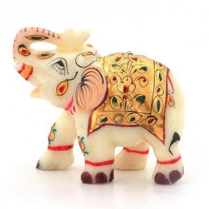 Buy Vivan Creation Rajasthani Handmade Elephant Marble Handicraft 146 online