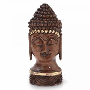 Buy Vivan Creation Antique Handcrafted Lord Buddha In Carved Wood -192 online