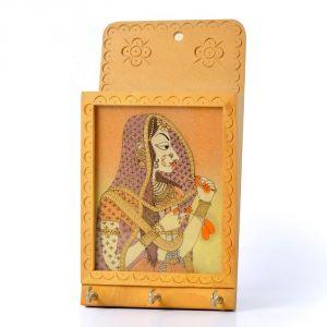 Buy Vivan Creation Jaipuri Gemstone Painted Key N Letter Holder 214 online