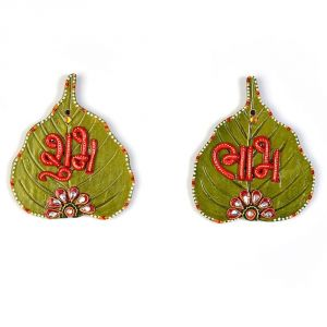 Buy Vivan Creation Designer Paan Shape Shubh Labh Door Hanging online