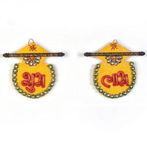 Buy Vivan Creation Designer Kundan Matki Shubh Labh Door Hanging 255 online