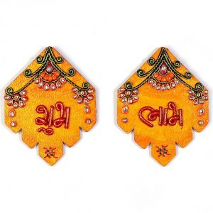 Buy Vivan Creation Kundan Work Handmade Shubh Labh Door Hangings online