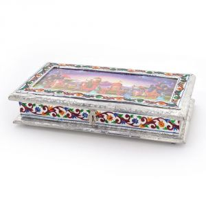 Buy Vivan Creation White Metal Dry fruit Box with 3 Partitions online