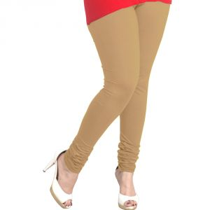 Buy Vivan Creation Women Stylish Sexy Beige Color Comfortable Cotton Churidaar Leggings (product Code - Dli5lch213) online