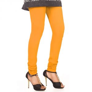 Buy Vivan Creation Ladies Stylish Yellow Color Comfortable Cotton Churidaar Leggings (product Code - Dli5lch222) online