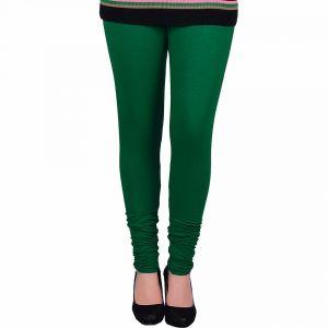 Buy Vivan Creation Women Stylish Sexy Green Color Comfortable Cotton Churidaar Leggings (product Code - Dli5lch225) online