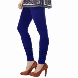 Buy Vivan Creation Women Stylish Royal Blue Color Comfortable Cotton Churidaar Leggings (product Code - Dli5lch232) online