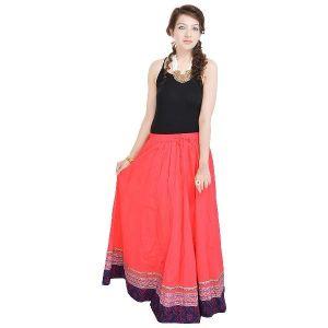 Buy Vivan Creation Shree Mangalam Mart Full Length Red Skirt Free Size (product Code - Smskt502) online