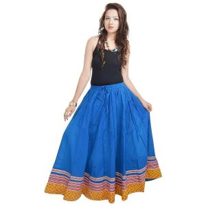Buy Vivan Creation Shree Mangalam Mart Specially Designed Full Length Blue Skirt In Bottom Free Size (product Code - Smskt504) online