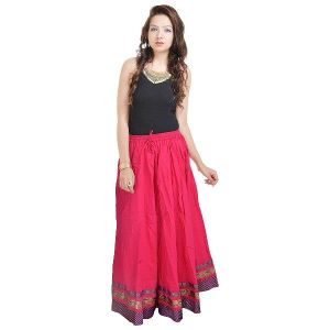 Buy Vivan Creation Shree Mangalam Mart Full Length Pink Skirt Designer In Bottom Free Size (product Code - Smskt525) online