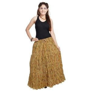 Buy Vivan Creation Fashionable Ethnic Cotton Short Skirt  Free Size online