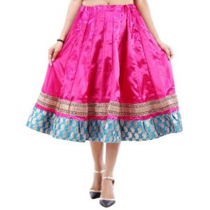 Buy Vivan Creation Shree Mangalam Mart Designer Satin Short Lehenga Free Size (product Code - Smskt747) online