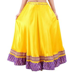 Buy Vivan Creation Shree Mangalam Mart Designer Satin Long Lehenga Free Size online