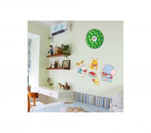 Buy Decals Arts Diy Wall Clock Animated Design Sticker online
