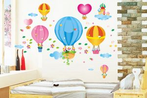 Buy Decals Arts Hot Air Balloon Children Wall Sticker online