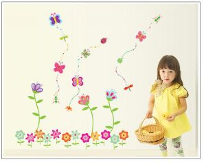 Buy Decals Arts Colourful Smallest Flower Design For Kids online