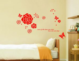 Buy Decals Arts Red Rose Wall Sticker online