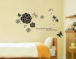 Buy Decals Arts Black Rose Wall Sticker online