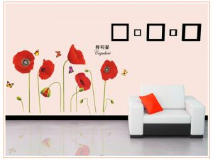 Buy Decals Arts Corn Poppy Wall Sticker online