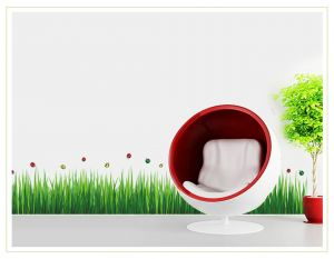 Buy Decals Arts Grass Beetle Third Generation Removable Wall Stickers online