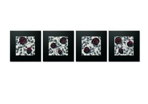 Buy Decals Arts Hand Painted Seductive Red Roses 3d Embossed Painting online