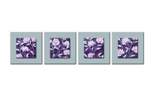 Buy Decals Arts Hand Painted Pink Flowers 3d Embossed Painting online