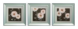 Buy Decals Arts Hand Painted Beautiful Brownish Flower Set 3dembossed Painting online