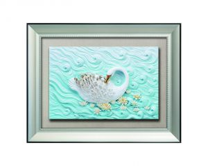 Buy Decals Arts Hand Painted Swan On A River 3d Embossed Painting online