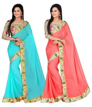 Buy Bhuwal Fashion Multicoloured Bhagalpuri Silk Saree Combos(combo157) online