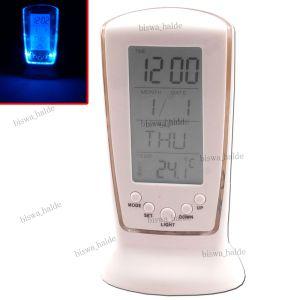 Buy Digital LCD Alarm Light Table Desk Calendar Clock Timer Stopwatch Gift -13 online