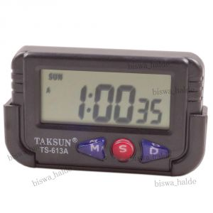 Buy Digital LCD Table Car Dashboard Alarm Clock LCD Stop Watch Timer -15 online