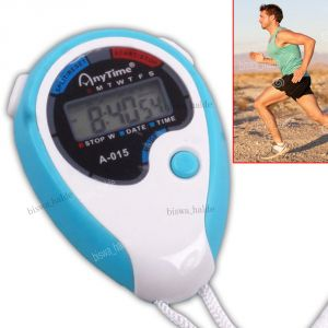 Buy Anytime Digital Stop Watch Date Time Timer Stopwatch Step Walk Running Counter Sports online