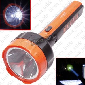 Buy 5W A.B.C Gold High Power Long Beam LED Bright White 2 Mode Rechargeable Emergency Torch Light Night Lamp online