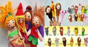 Buy Finger Puppets Combo 4 PCs Little Mermaid & 12 PCs Animal Puppets With Tige online