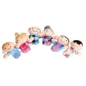 Buy Kuhu Creations Family Finger Puppets Pack Of 6 - Multi Color online