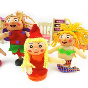 Buy Kuhu Creations Wooden Finger Puppets - Set Of 4 online