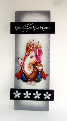 Buy Key Holder - Decorative, Wooden, Handcrafted with God Photo - Shree Ganesh online